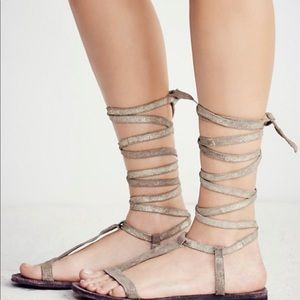 Dahlia Lace Up Sandal By Free People